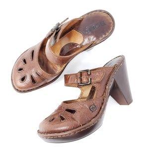 Born Mary Jane Heeled Sandals